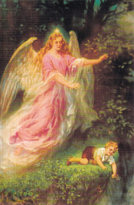 Postkaart-ingel-lapsega