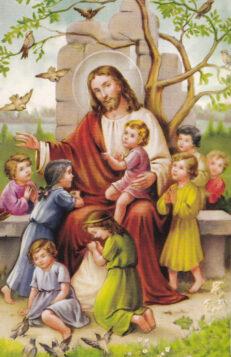 Postkaart-Jeesus-lastega